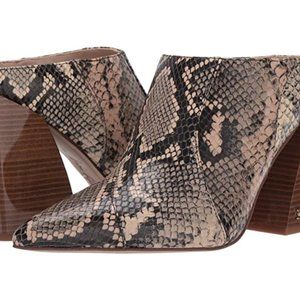 REVERIE Sam Edelman Snakeskin Mule High Heel Boots